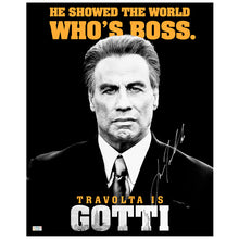 Load image into Gallery viewer, John Travolta Autographed John Gotti Who's Boss 16x20 Poster
