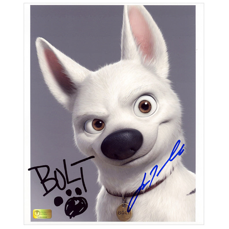 John Travolta Autographed Bolt 8x10 Photo