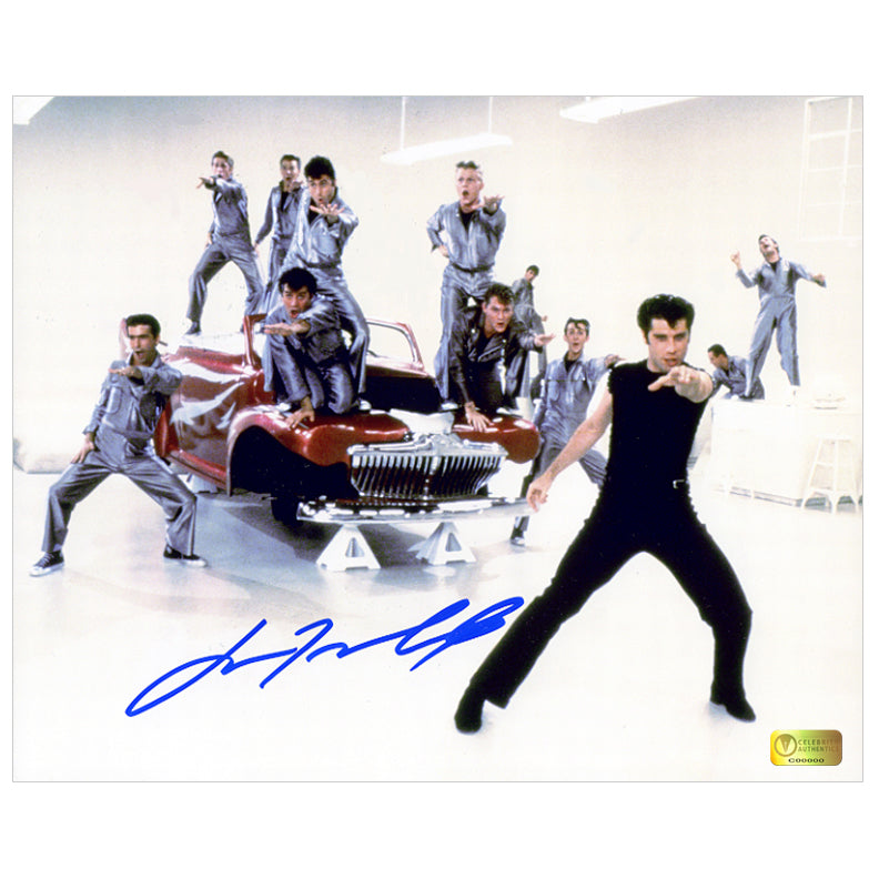 John Travolta Autographed Grease Greased Lightning Dance 8x10 Photo