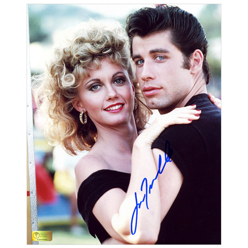 John Travolta Autographed Grease Danny and Sandy 8x10 Photo