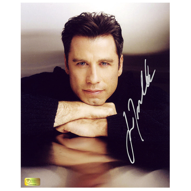John Travolta Autographed 8×10 Portrait Photo