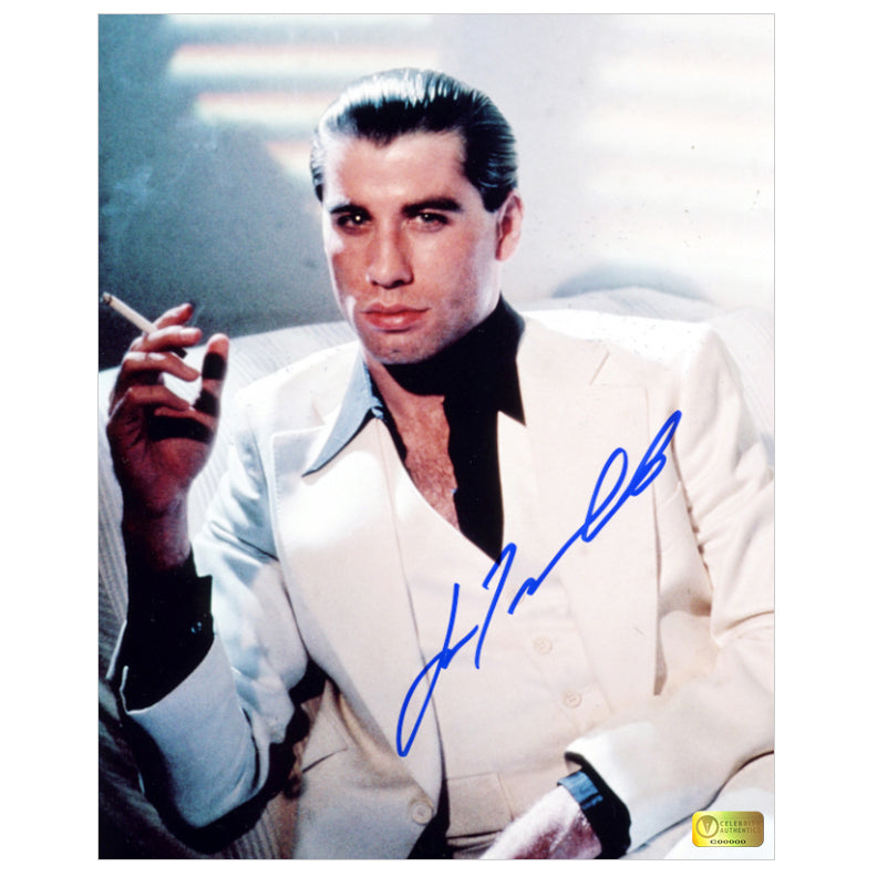 John Travolta Autographed Saturday Night Fever Tony Manero 8x10 Photo