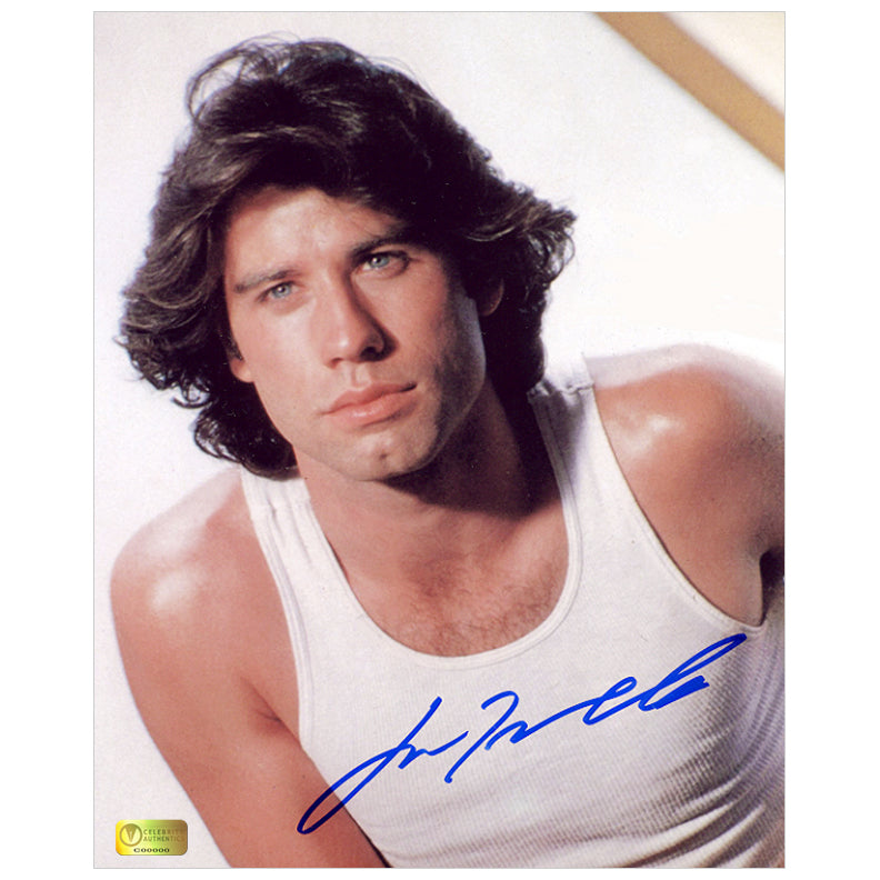 John Travolta Autographed Sultry 8x10 Photo