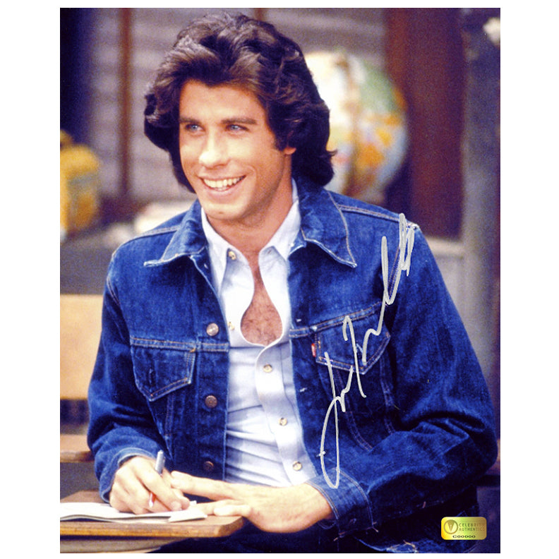 John Travolta Autographed Welcome Back Kotter 8x10 Photo