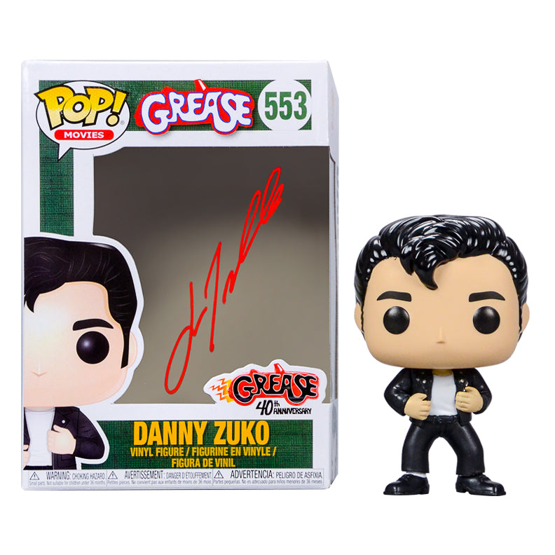 John Travolta Autographed Grease Danny Zuko #553 POP! Vinyl Figure
