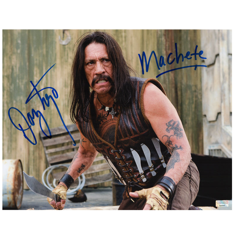 Danny Trejo Autographed Machete Attack 11x14 Photo