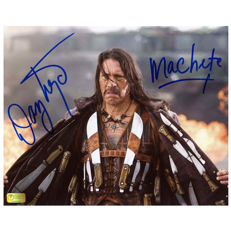 Danny Trejo Autographed Machete Full Arsenal 8x10 Photo