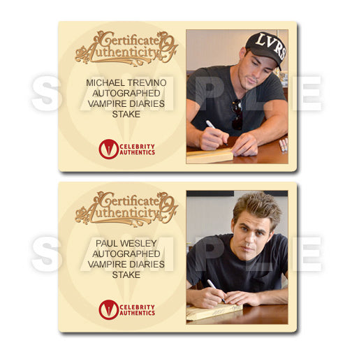 Ian Somerhalder, Nina Dobrev, Paul Wesley and The Vampire Diaries Cast Autographed Wooden Stake