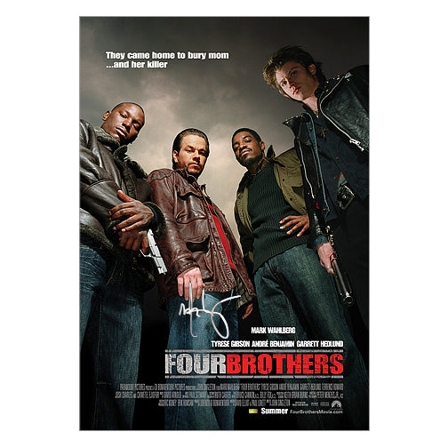 Mark Wahlberg Autographed Four Brothers 27x40 Movie Poster