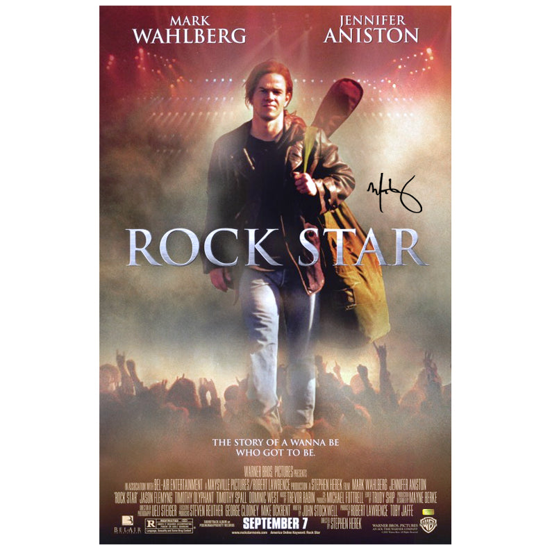 Mark Wahlberg Autographed Original Rock Star 27x40 Double Sided Movie Poster