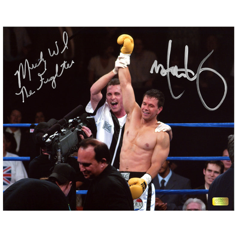 Mark Wahlberg, Micky Ward Autographed The Fighter 8x10 Scene Photo