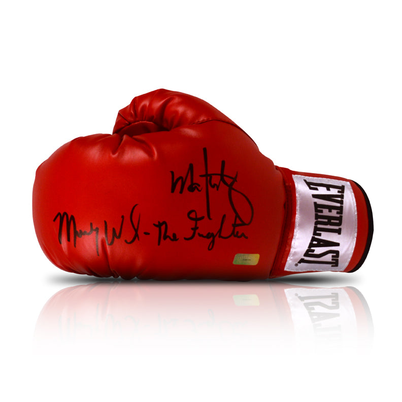 Mark Wahlberg and Micky Ward Autographed The Fighter Boxing Glove
