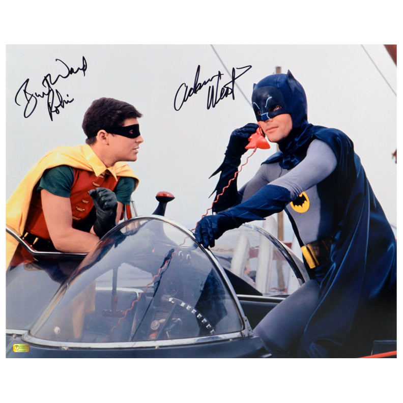 Adam West and Burt Ward Autographed Classic Batman 1966 Batman and Robin 16x20 Photo