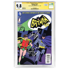 Load image into Gallery viewer, Adam West, Burt Ward Autographed Batman 66 #1 CGC SS 9.8