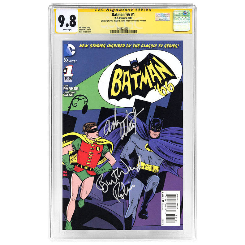 Adam West, Burt Ward Autographed Batman 66 #1 CGC SS 9.8