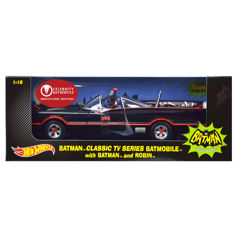 Adam West and Burt Ward Autographed Die-Cast 1:18 Scale Batman 1966 Batmobile