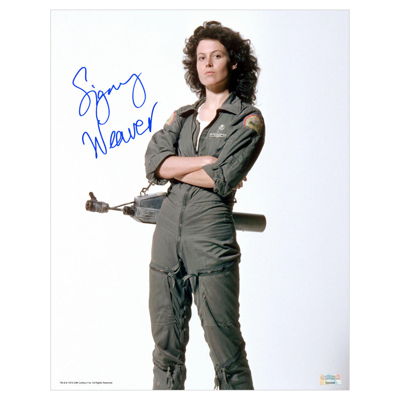Sigourney Weaver Autographed Alien Ripley 11x14 Studio Photo