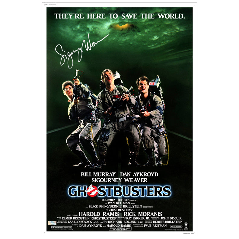 Sigourney Weaver Autographed Ghostbusters 16x24 Poster