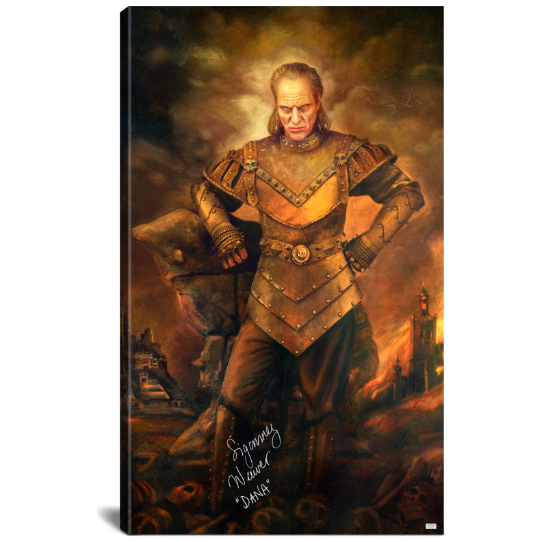 Sigourney Weaver Autographed Ghostbusters Vigo the Carpathian Gallery Edition 28.5×48 Canvas