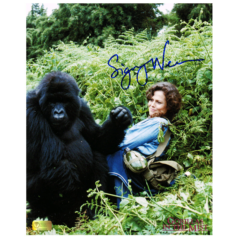 Sigourney Weaver Autographed Gorillas in the Mist The Story of Dian Fossey 8x10 Photo