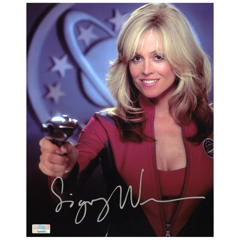 Sigourney Weaver Autographed Galaxy Quest Nebulizer 8x10 Photo