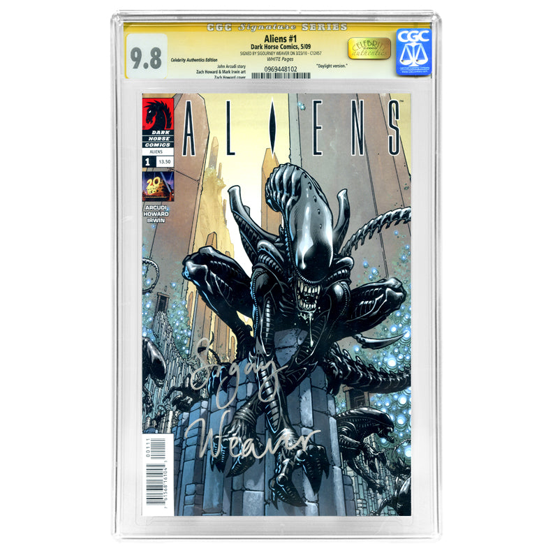 Sigourney Weaver Autographed Aliens #1 Daylight Variant Cover CGC SS 9.8