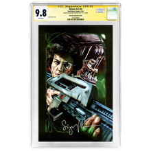 Load image into Gallery viewer, Sigourney Weaver Autographed Aliens #4 Celebrity Authentics Variant Cover CGC SS 9.8