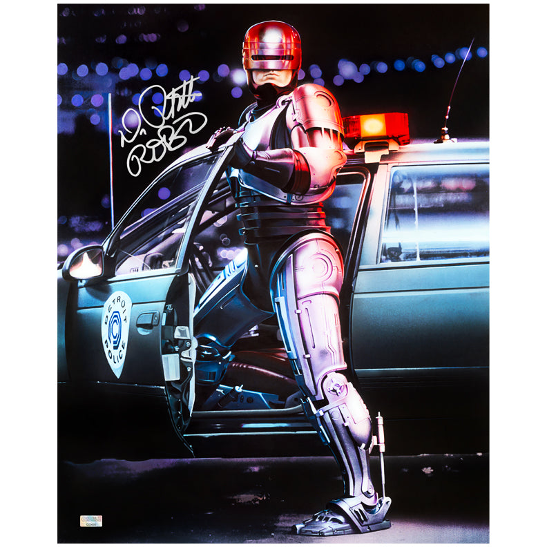 Peter Weller Autographed RoboCop 16×20 Photo