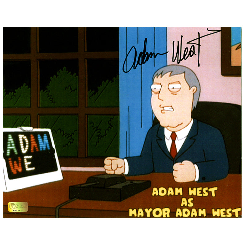 Adam West Autographed Family Guy Mayor Adam West 8x10 Photo