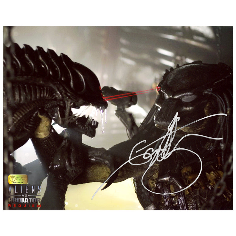 Ian Whyte Autographed AVP: Aliens vs Predator Requiem Strike 8×10 Photo
