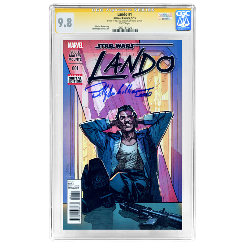 Billy Dee Williams Autographed CGC SS Signature Series 9.8 Star Wars Lando #1 Comic