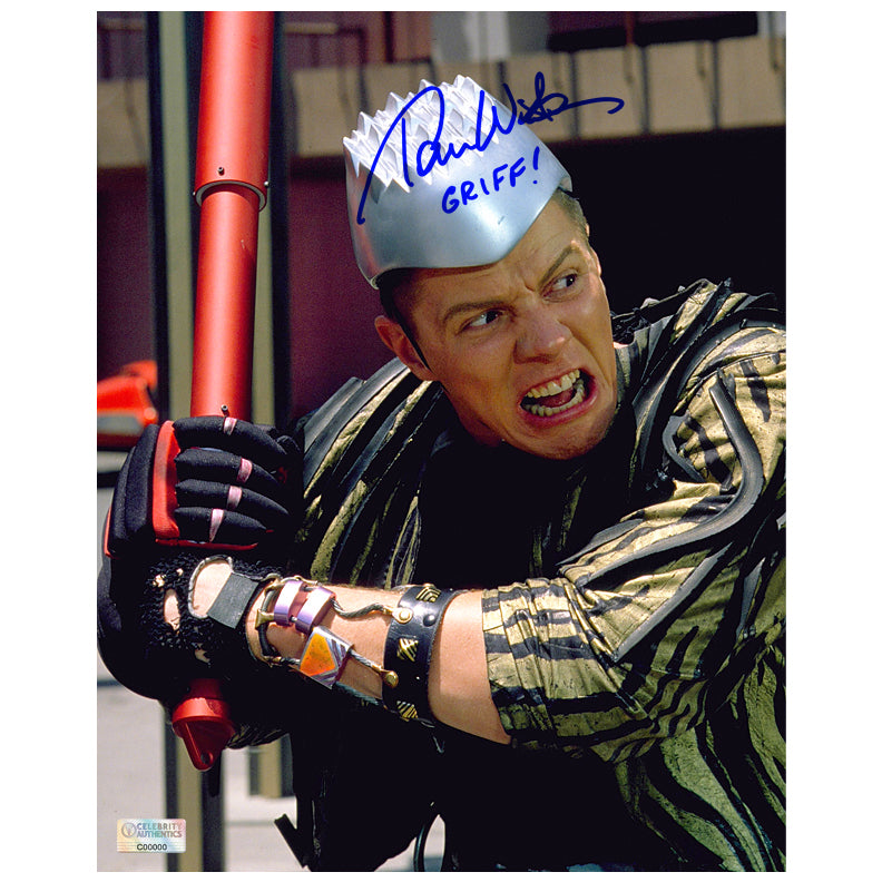 Thomas Wilson Autographed Back to the Future II Griff Tannen 8x10 Scene Photo