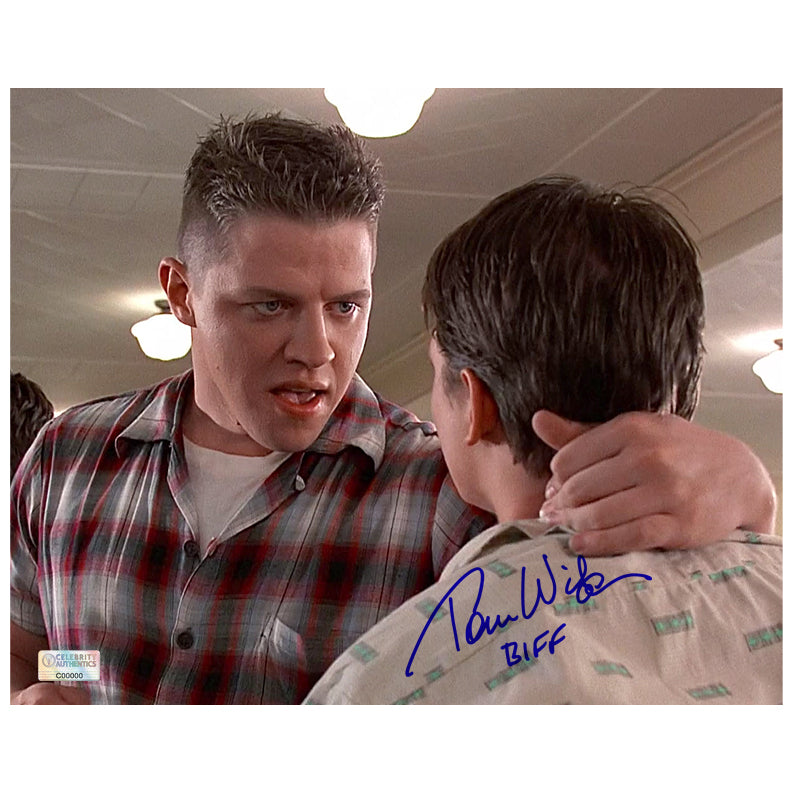 Thomas Wilson Autographed Back to the Future 8x10 Scene Photo