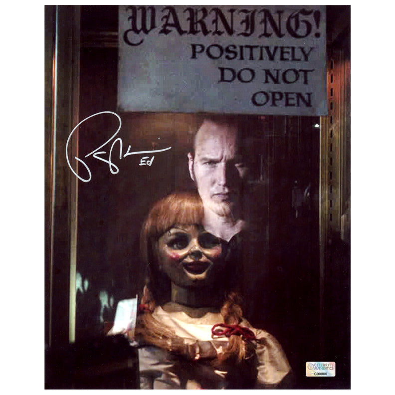 Patrick Wilson Autographed Annabelle Comes Home Do Not Open 8x10 Photo