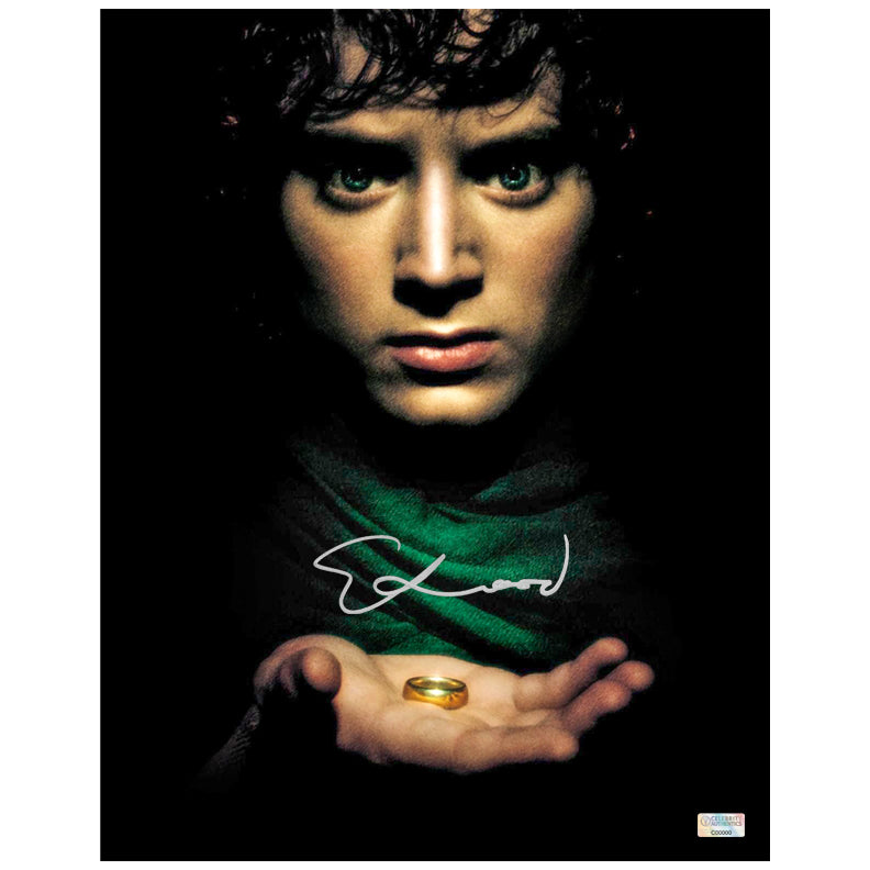 Elijah Wood Autographed Lord of the Rings Frodo 11x14 Close Up Photo