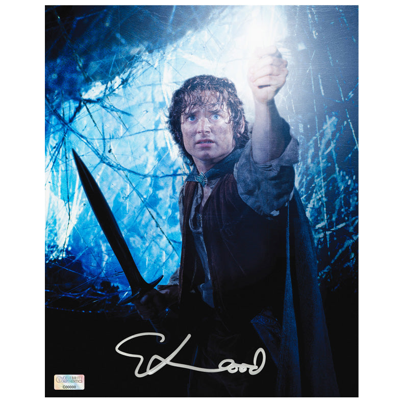 Elijah Wood Autographed Lord of the Rings Into Darkness 8x10 Photo
