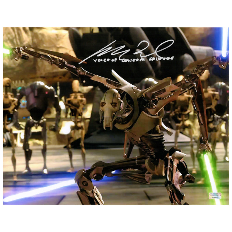Matthew Wood Autographed Star Wars: Revenge of the Sith General Grievous 11×14 Scene Photo