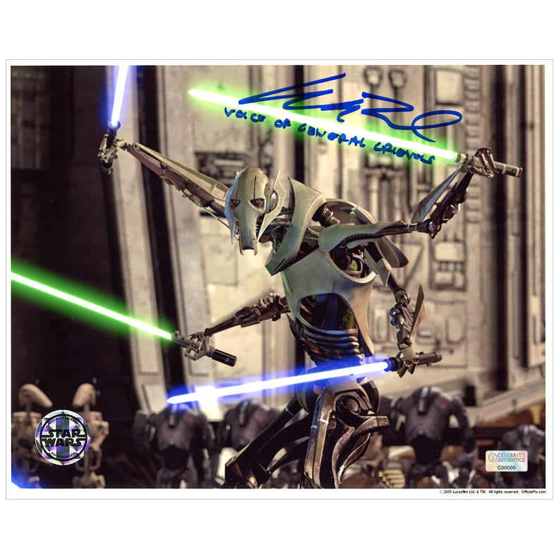 Matthew Wood Autographed Star Wars: Revenge of the Sith General Grievous 8×10 Scene Photo