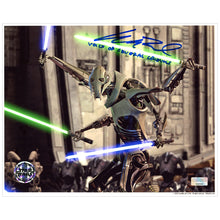 Load image into Gallery viewer, Matthew Wood Autographed Star Wars: Revenge of the Sith General Grievous 8×10 Scene Photo