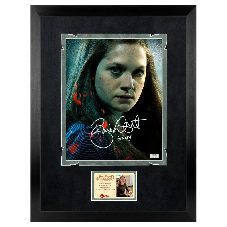 Bonnie Wright Autographed Ginny Weasley 8×10 Close Up Photo