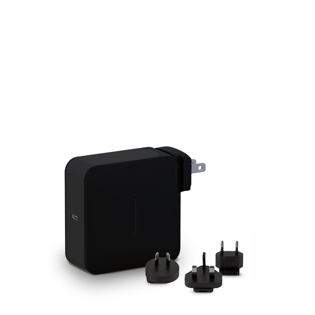 87W USB-C PD Wall Charger | Interchangeable US/UK/EU/AU Plugs
