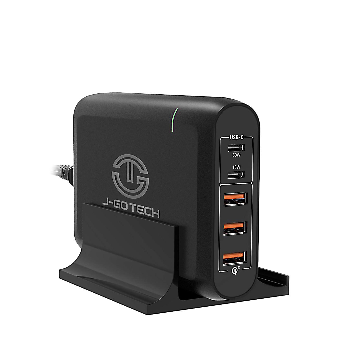 J-Go Tech 96W Dual Type-C PD Travel Adapter + Desktop Charger by J-Go Tech