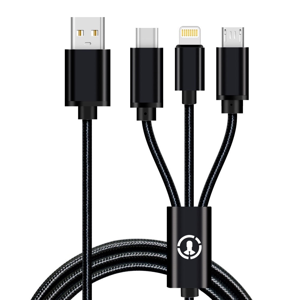3-in-1 USB Charging Cable | 3.3ft