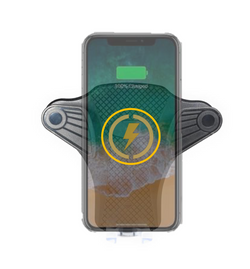 J-Go Tech Slide N' Drive | Wireless Charging Vent Mount w/ Retractable USB Cable by J-Go Tech