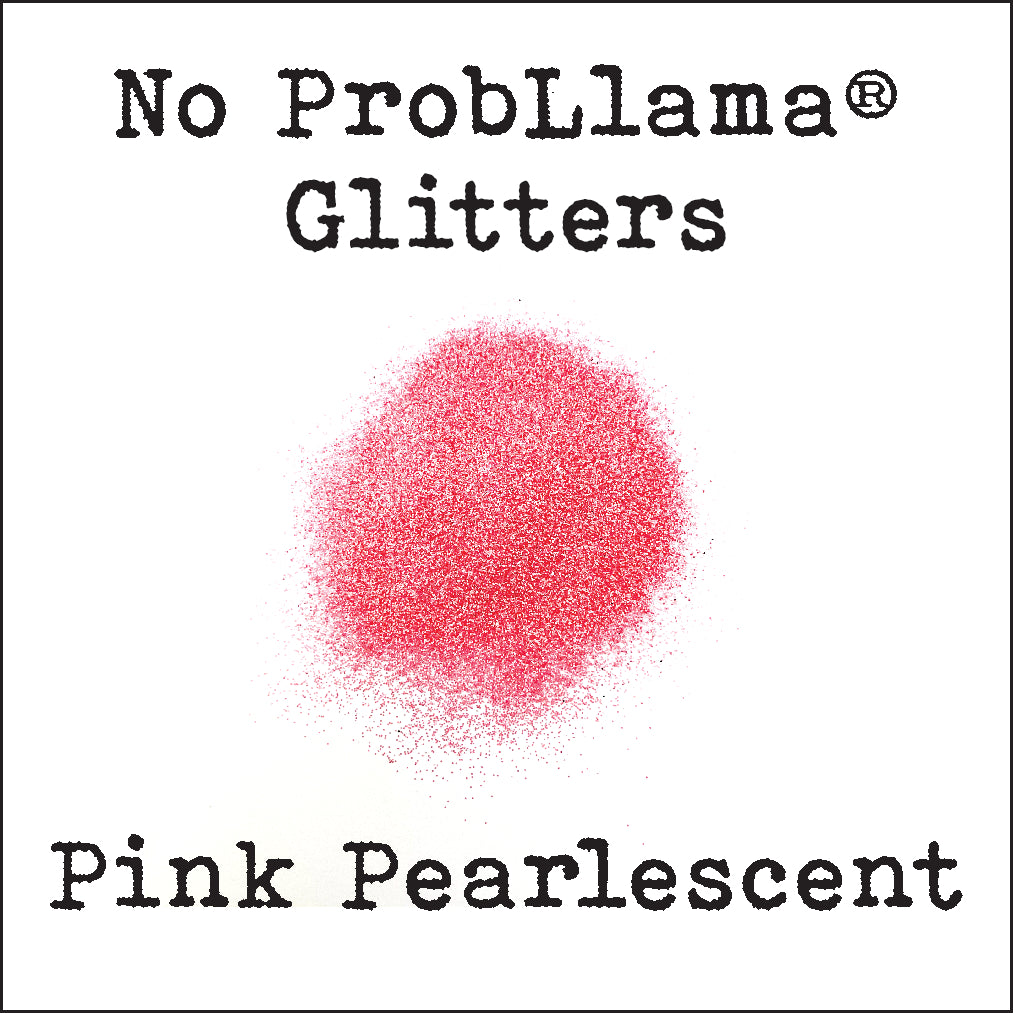 No ProbLlama Glitter - Pearlescent Pink - Made in the USA - .008 Hex