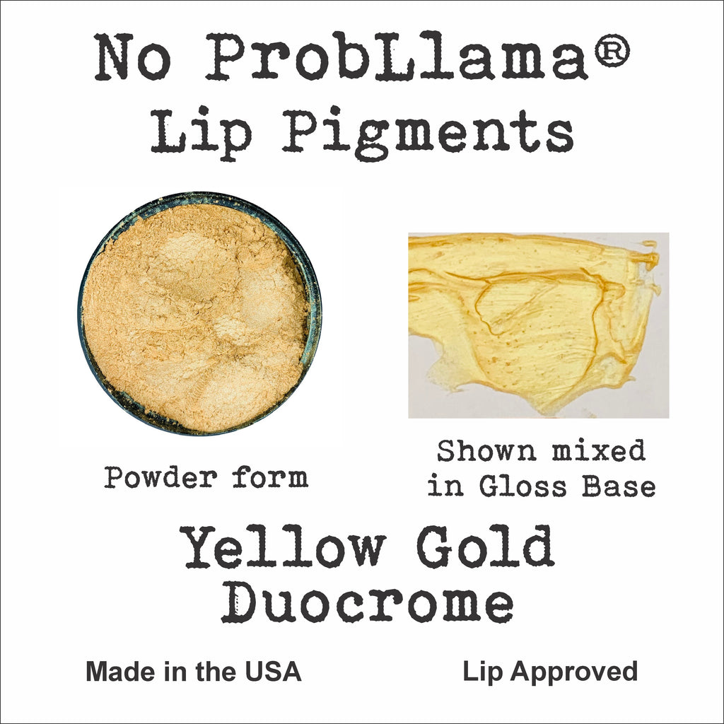 No ProbLlama Pigment - Yellow Gold Duocrome - Made in the USA - Responsibly Sourced