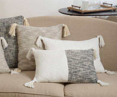 Solid Tassel Pillow - Ivory