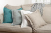 Flanged Pillow - Blue Grey
