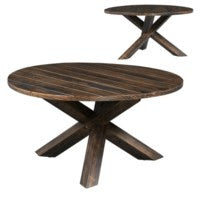 Hawthorne Estate Tri-Leg Round Cocktail Table Deep Forest Finish