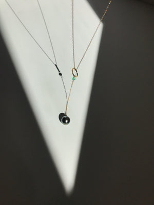 Pendulum Necklace with Tahitian Pearl
